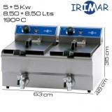 Freidora DOBLE 8+8 litros IRIMAR (Con grifo)