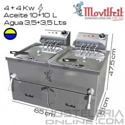 Freidora DOBLE 13,5+13,5 litros MOVILFRIT