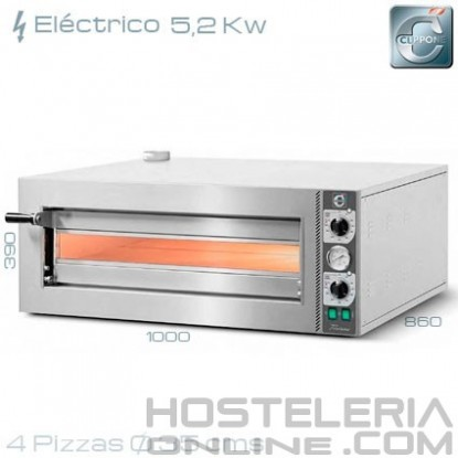 Horno para pizza eléctrico Cuppone TZ 435/1M