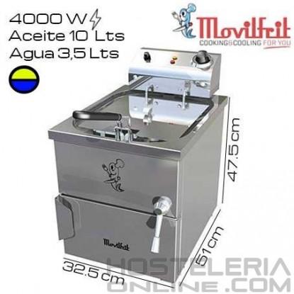 Freidora 13,5 litros MOVILFRIT (Agua/Aceite)