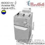 Freidora 19,5 litros MOVILFRIT (Agua/Aceite)
