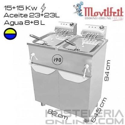Freidora DOBLE 31+31 litros MOVILFRIT