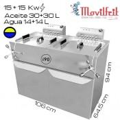 Freidora DOBLE 44+44 litros MOVILFRIT