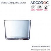 Vaso Chiquito Arcoroc  23 Cl (Caja 6 unds)