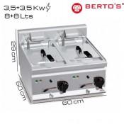 Freidora eléctrica 8+8 lts Bertos