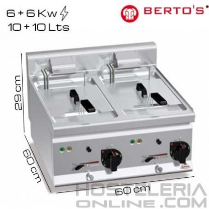 Freidora eléctrica 10+10 lts Bertos