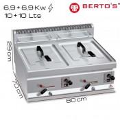 Freidora gas 10+10 lts Bertos
