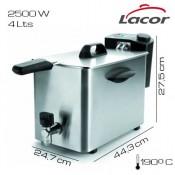 Freidora electrica con grifo Lacor 4 L