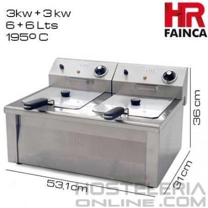 Freidora industrial 6+6 litros HR