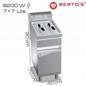 Freidora gas 7+7 pie Berto's