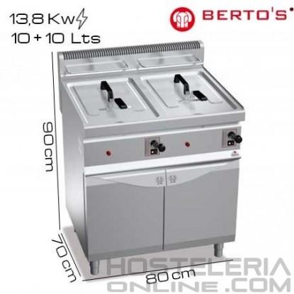 Freidora gas 10+10 lts pie Bertos