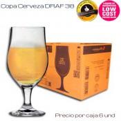 Copa Cerveza Draf 38cl (Caja 6 unds)