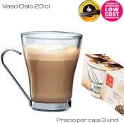 Vaso Café con leche asa metal