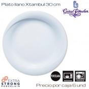 Plato llano Xtambul 30 cms (Caja de 6 unds)