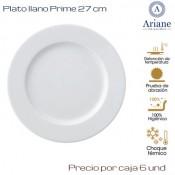 Plato llano Prime 27  (Caja de 6 unds)
