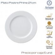 Plato Postre Prime 21 (Caja de 6 unds)