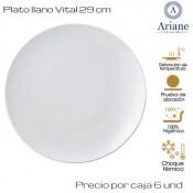 Plato llano Vital 29  (Caja de 6 unds)