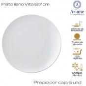 Plato llano Vital 27 (Caja de 6 unds)