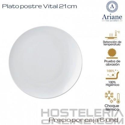 Plato postre Vital 21 (Caja de 6 unds)