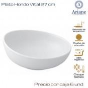 Plato hondo Vital 21 (Caja de 6 unds)