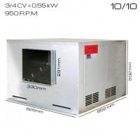 Caja de ventilacón 400ºC/2h 10/10 [3/4 CV]