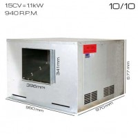Caja de ventilacón 400ºC/2h 10/10 [1.5 CV]