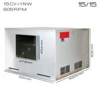 Caja de ventilación 400ºC/2h 15/15 [1.5 CV]