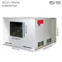 Caja de ventilacón 400ºC/2h 15/15 [1.5 CV]
