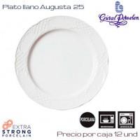 Plato Llano Augusta 25 (Caja de 12 unds)