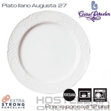 Plato llano Augusta 27 (Caja de 12 unds)