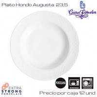 Plato Hondo Augusta 23 (Caja de 12 unds)