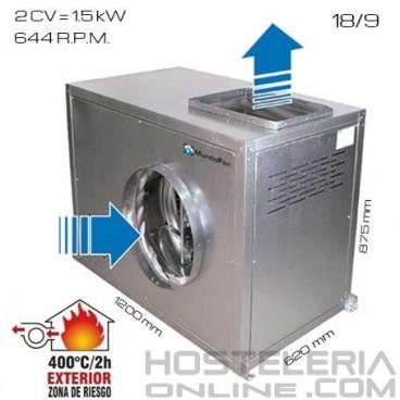 Caja de vent. simple oído 400ºC/2h 18/9 [2 CV]