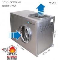 Caja de vent. simple oído 400ºC/2h 15/7 [1 CV]