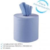 Bobina toallas alimentación [AZUL]
