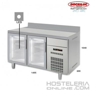 Altomostrador refrigerado Docriluc 150 (Puerta de cristal)