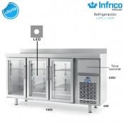 Altomostrador refrigerado Infrico IF603PCR (Puerta de cristal)