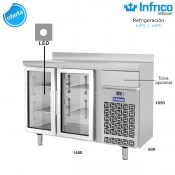 Altomostrador refrigerado Infrico IF602PCR (Puerta de cristal)
