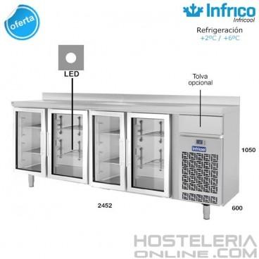 Altomostrador refrigerado Infrico IF604PCR (Puerta de cristal)
