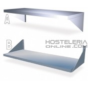 Estanteria inox pared eco 1400X400