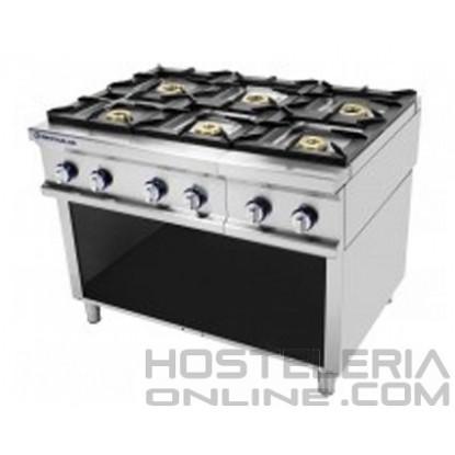 Cocina 6 fuegos sobre soporte Repagas