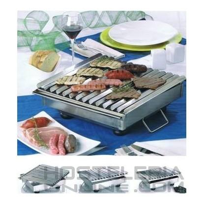 Brasador de carne para mesa 27x45x7 cm