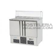 Mesa refrigerada gastronorm 1/1 para ensaladas S.700 ME1000PIZZA